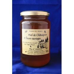 Miel de Châtaignier et fleurs sauvages - 500 g