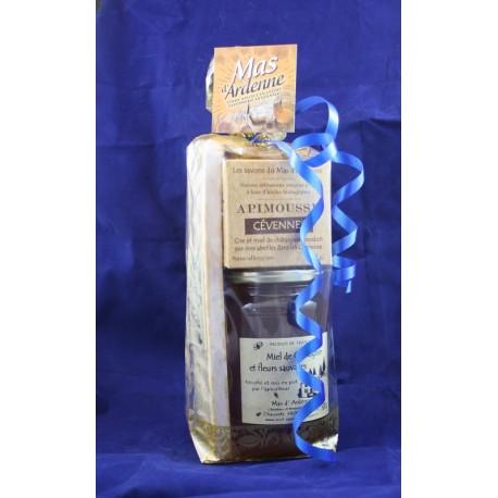 Sachet cadeau miel-savons-nougat